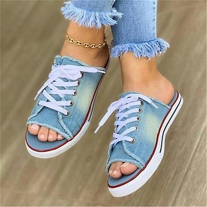 Women Summer Sandals Flats Shoes Woman Sexy Slippers Slides Lace Up