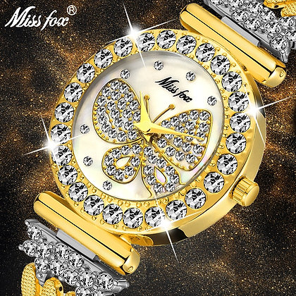 MISSFOX - Butterfly Luxury Brand Waterproof Ladies Wrist Watch