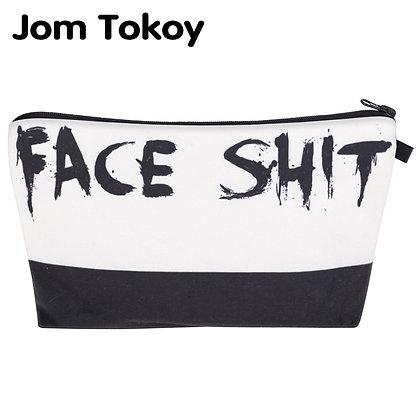 Jom Tokoy  Cosmetic Organizer Bag Face Shit 3D Printing Cosmetic Bag