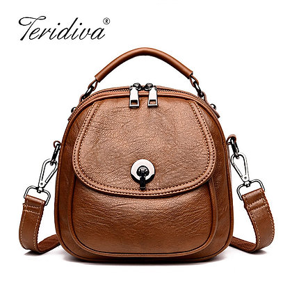 Leather Handbag /Lovely Small Crossbody Casual Messenger Purse Mochilas Mujer