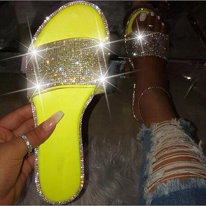 Glitter Slippers / Sandals / Candy Color Flip Flops