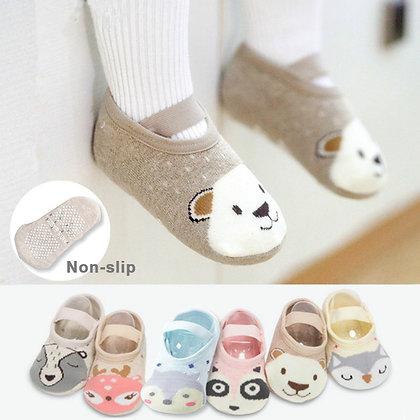 Non-Slip Cotton Toddler Socks
