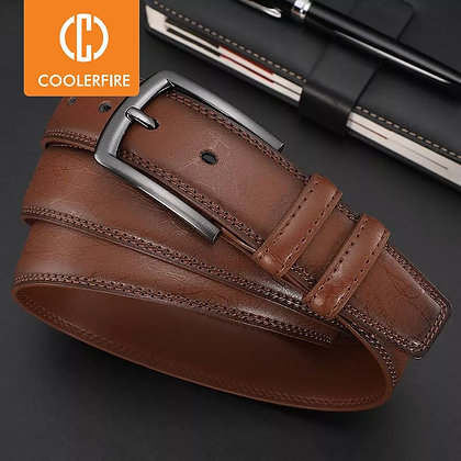 Genuine Leather Designer Belt / Pin Buckle