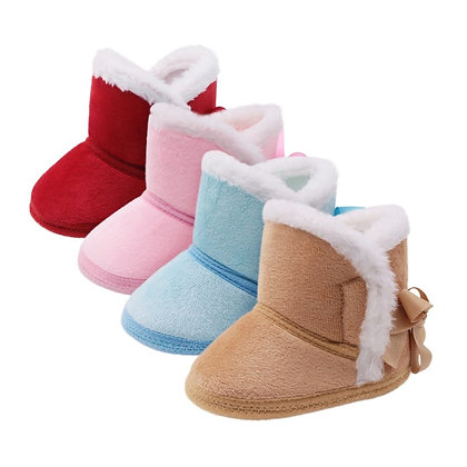 First Walkers Fashion Baby Girls Shoes Fur Snow Warm Boots High Quality