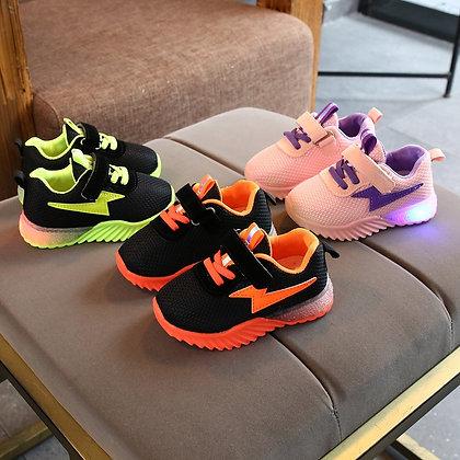 Luminous Breathable Mesh / LED Flashing Lights -  Toddler Sneakers