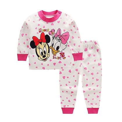 Cotton Cartoon Pyjamas Set for babies