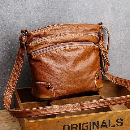 Luxury Designer 2020 Vintage Crossbody Pu Leather Black Soft Washed Flap Bag