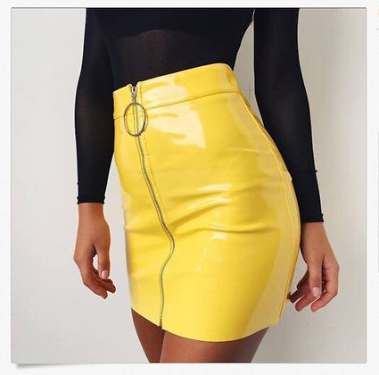 Sexy High Waist PU Leather Stretch Bodycon Mini Skirts / 5 Colors @ Googoostore