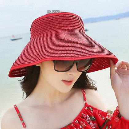 Sun Visor Beach Hats Women Visors Foldable Wide Brim Female Summer Sun Hat