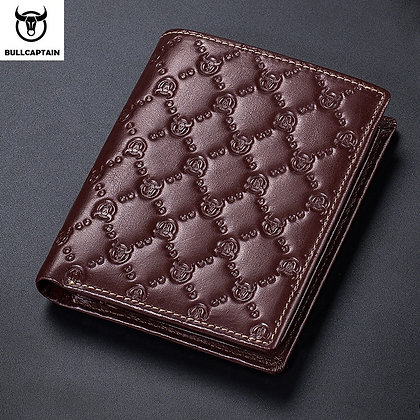 BULLCAPTAIN Wallets Leather Men Purses Men Card Holder Wallet  Rfid Card Wallets
