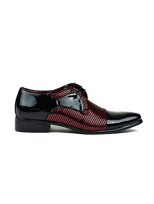 Men's Diamond Party Shoes Black/Red
