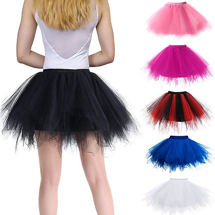 PrincessTutu Fluffy Tulle Petticoat Skirts / Elastic Waist