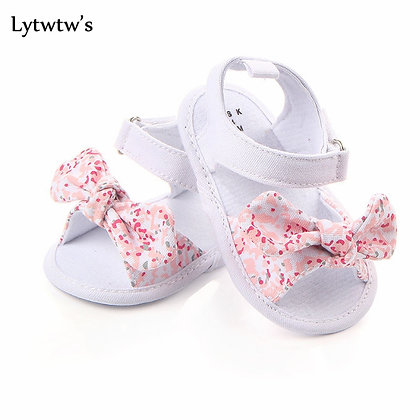 Non-Slip Canvas Bowknot Toddlers Newborn Infantil Sandals