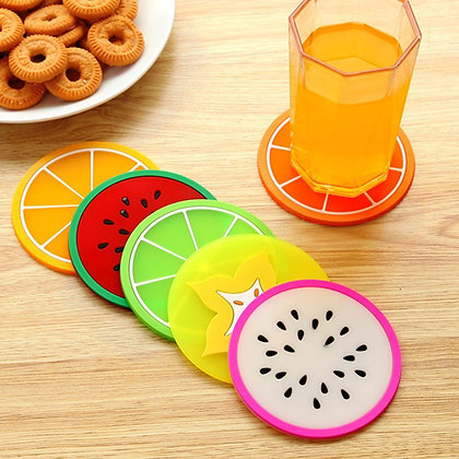 Modern Colorful Silicone Fruit Shapes / Placemat Coffee Pads