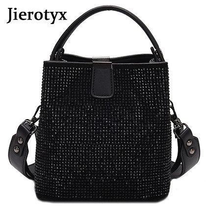 JIEEOTYX Diamonds  Bucket/ Brand Designer / Quality Pu Leather Shoulder Bag