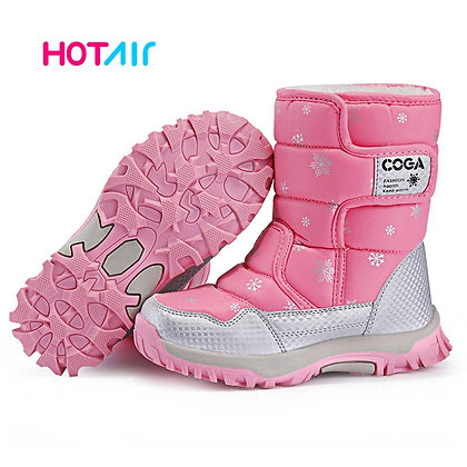 Kids Snow Boots / Winter Warm Fur Anti-skid Outsole /  Size 27 - 38