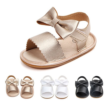 Baby Sandals Girl Princess Shoes Toddler Sweet Big Bowknot Soft Soles Anti-Slip