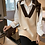 Thumbnail: Vests Women Patchwork Korean Style High Quality Knitted Retro Pullover