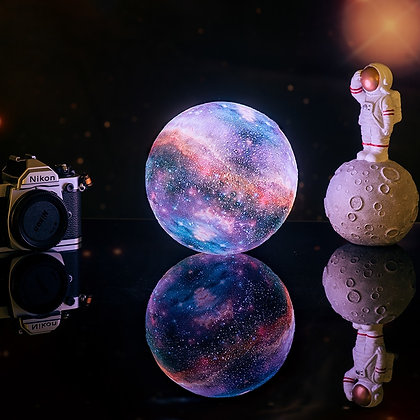 3D Print Star Moon Lamp Colorful Change Touch Home Decore Galaxy light