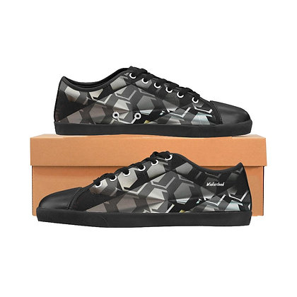 Canvas Black and White Wakerlook Men's Shoes