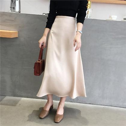 Elegant Glossy Satin Shiny Skirts / High Waist / Googoostore