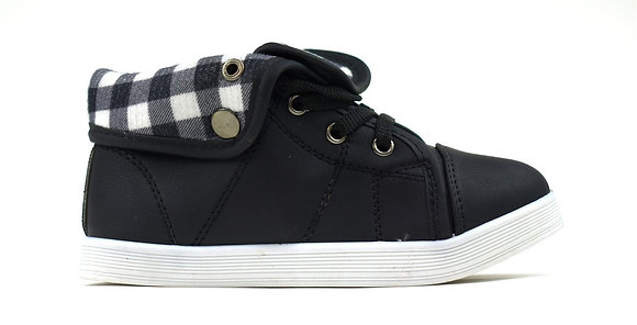 Unisex Chequered Turnover Trainers Black