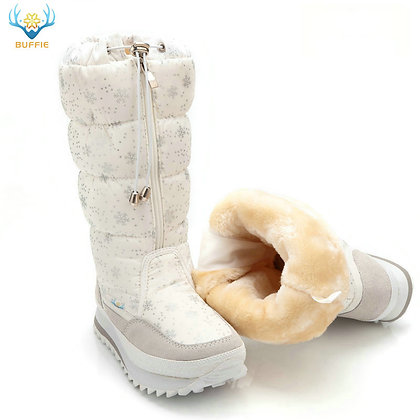 Snow Boots /2020 Winter High Plush Warm Shoes Plus Size 35 to Big 42 Easy Wear