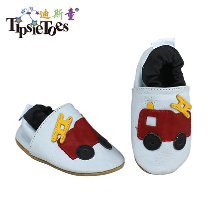 Tipsietoes Brand Cartoon Leather Stitching Baby Kids Toddler Shoes