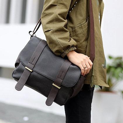 Mens Bag PU Leather Shoulder Bag Men Crossbody Bags /Men's Canvas Messenger Bag