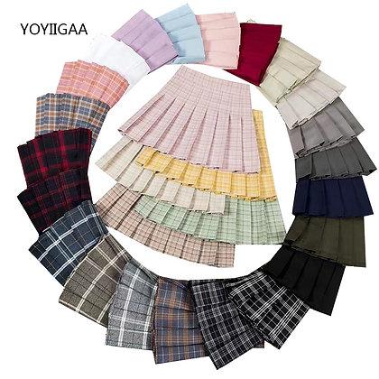 High Waist Pleated Short Skirts / Multi-colors / Googoostore