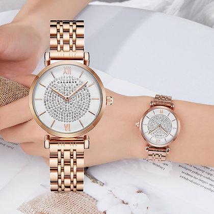 Rose Gold Stainless Steel Bracelet Watch
