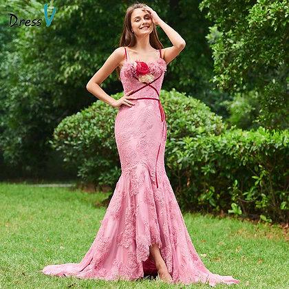 Dressv - Florwer Floor-Length Trumpet Sleeveless Formal Evening Dresses