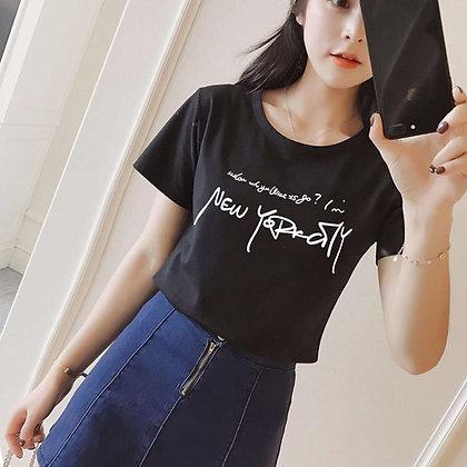 Summer Korea Style Elegant Tee Shirt for Summer T-shirt