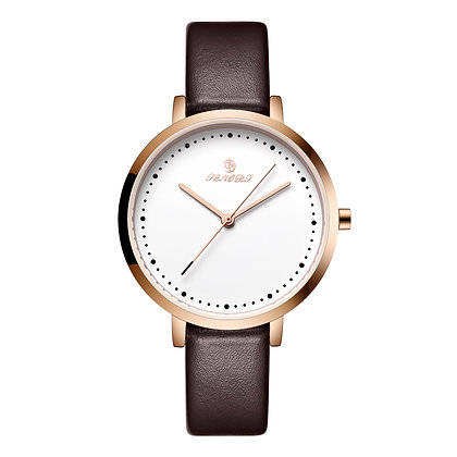 Senors - Simple Quartz Wristwatches / Leather Band