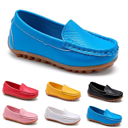 SKOEX Boys Girls Shoes Slip-On Loafers Oxford PU Leather Flat shoes