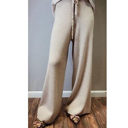 High Quality - High Waist Cashmere Wide Leg Pants