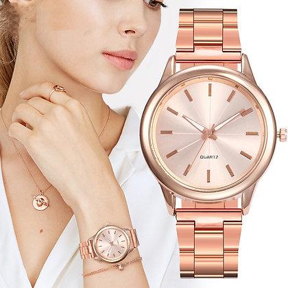 Ladies Luxury Quartz Watch Stainless Steel