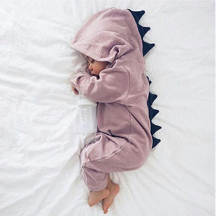 95% Cotton Dinosaur Hoodie Baby Clothing / Baby Jumpsuit
