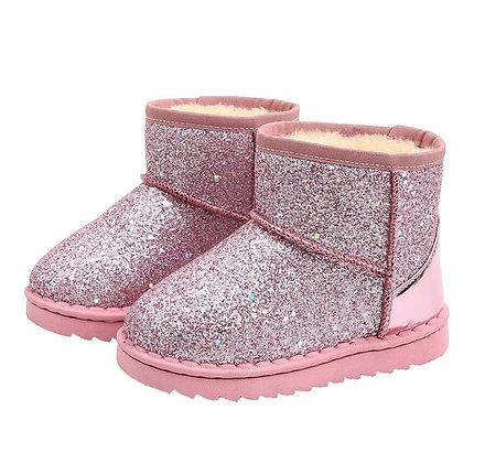 Cotton Warm Plush Soft Bottom Baby Girls Winter Ski Boots