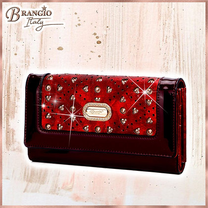 Sparkle of Hearts Envelope Shaped Womens Wallet With Phone Holder
