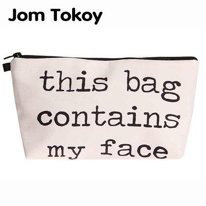 Jom Tokoy Heat Transfer Printing Cosmetic Bag Fashion Women Brand Makeup Bag