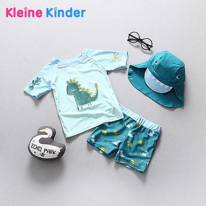 Baby Swimwear Dinosaur Print UPF50 Children's Swimsuit Separate Swimming Suit