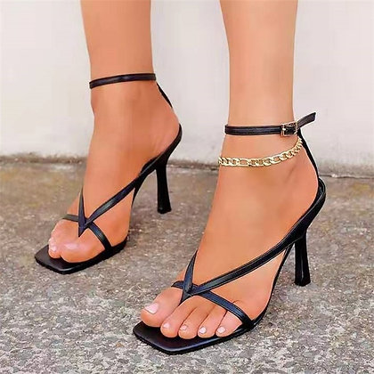 Square Toe High Heeled Shoes - Plus Size 35-43