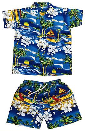 CLUB CUBANA Kids Boys /Girls  Slim fit Casual Floral Hawaiian set