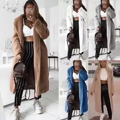 Faux Fur Teddy Coat Women Autumn Winter 2020 Casual Plus Size Long Jacket