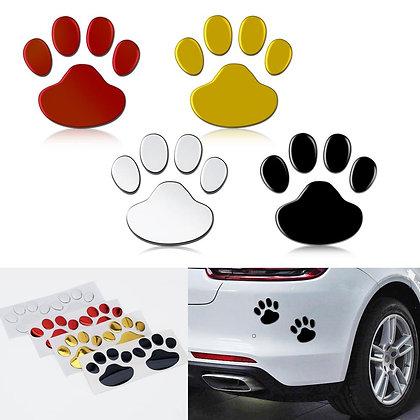 2Pcs/Set Car Sticker Cool Design Paw 3D