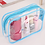 Thumbnail: Waterproof Transparent PVC Bath Cosmetic Bag Women Make Up Case Travel Zipper