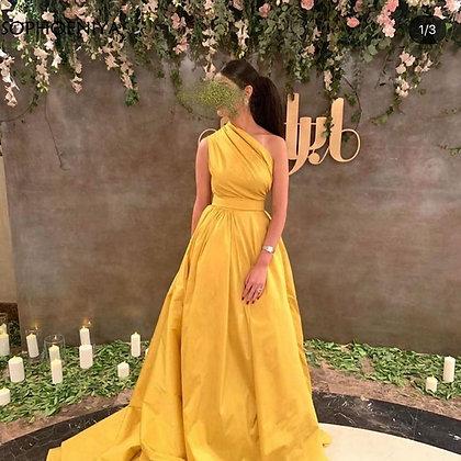 One Shoulder Long Elegant Evening Dresses at Googoostore