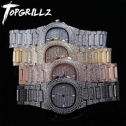 TOPGRILLZ - Iced Out Diamond Watch Quartz