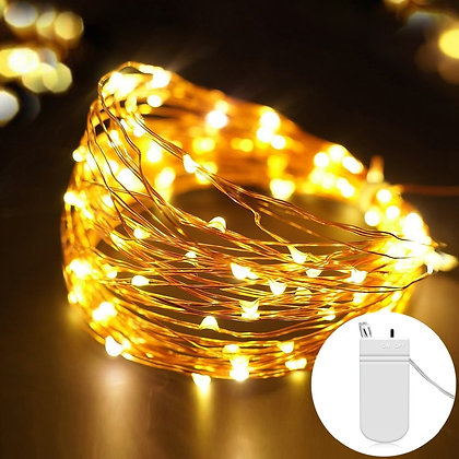 2M- 5M Battery Operated LED Copper Wire String Lights for Festival Decorations
